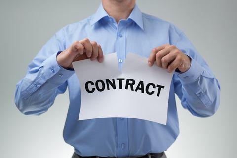 contract beeindigen